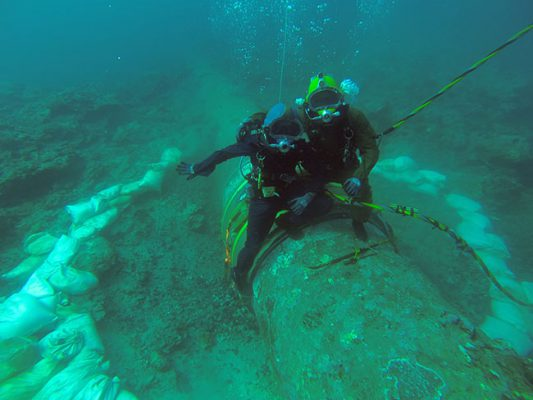 American Marine Corporation Diving project Hilo WWTP outfall pipeline