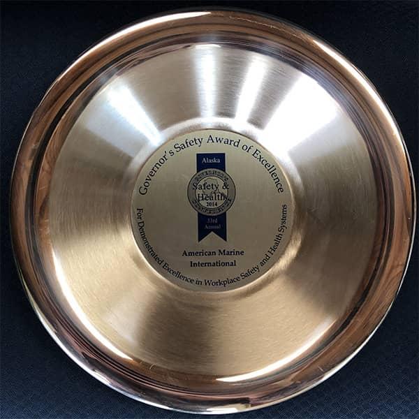 american marine international safety award from state of alaska