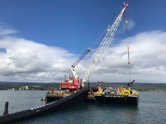 Crane Barge wtih System on deck