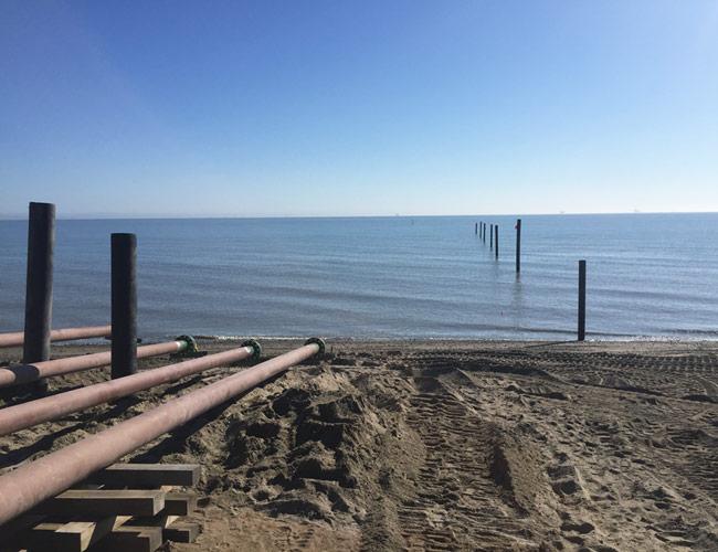 bay at high tide
